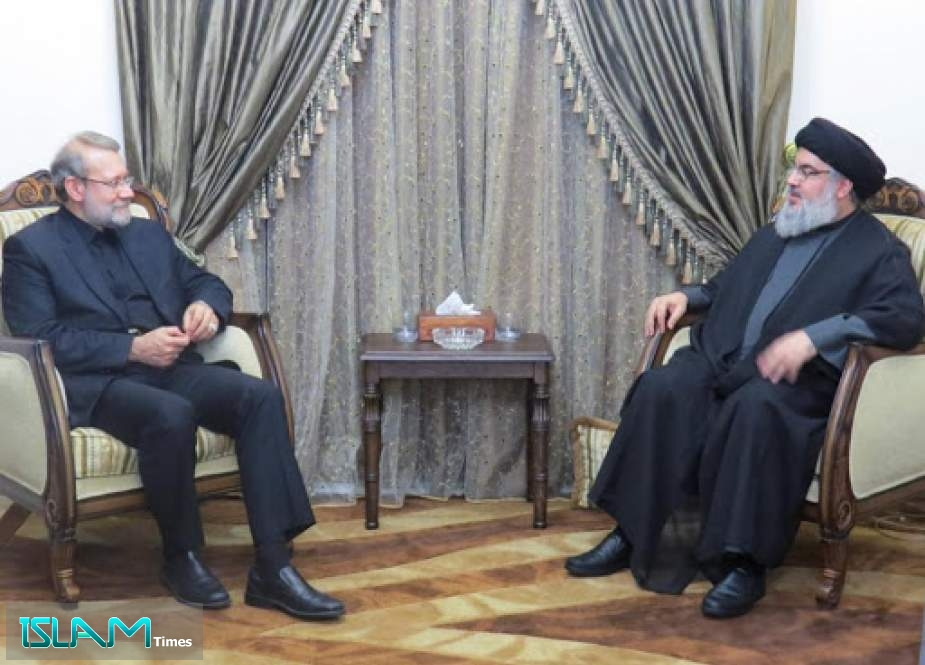 Sayyed Nasrallah & Iran's Larijani Reviewed the Latest Developments in the Region