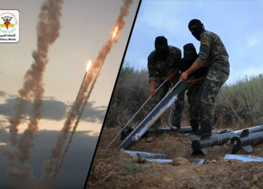 Rockets launched by Islamic Jihad Palestinian Resistance movement.jpg