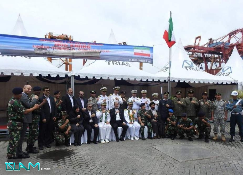 Iranian Naval Fleet Docking at Jakarta Port of Indonesia
