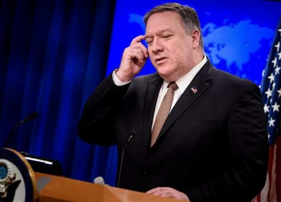 US Secretary of State Mike Pompeo speaks to reporters at the State Department in Washington.jpg