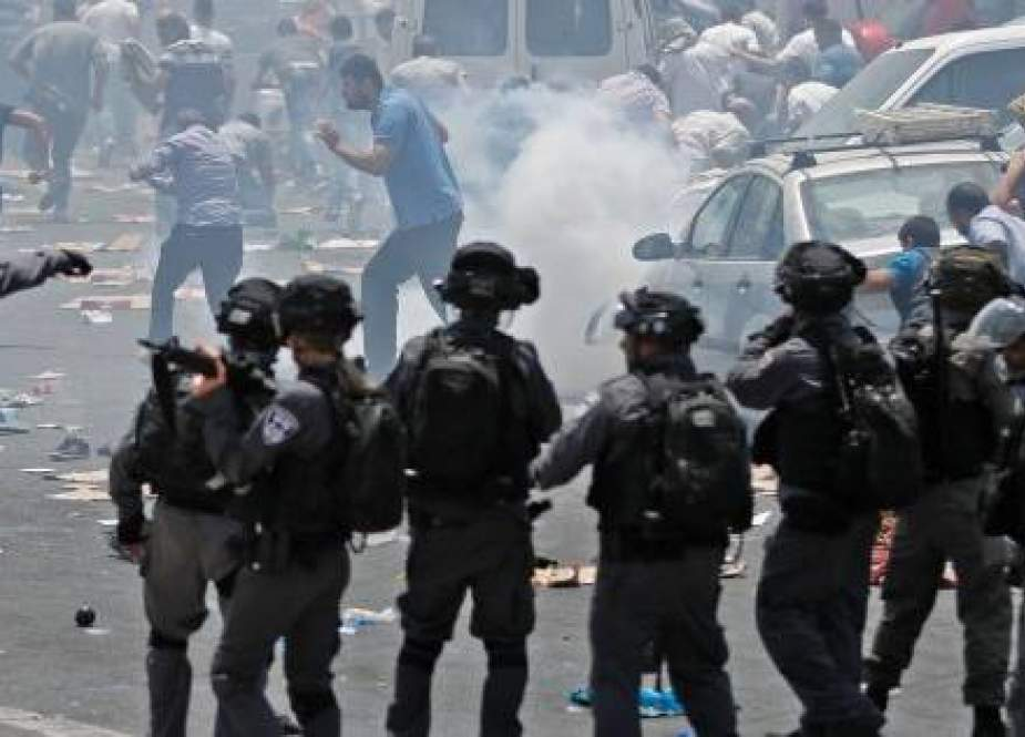 Palestinian Youths Clash with Zionist Occupation Forces in Ramallah.jpg