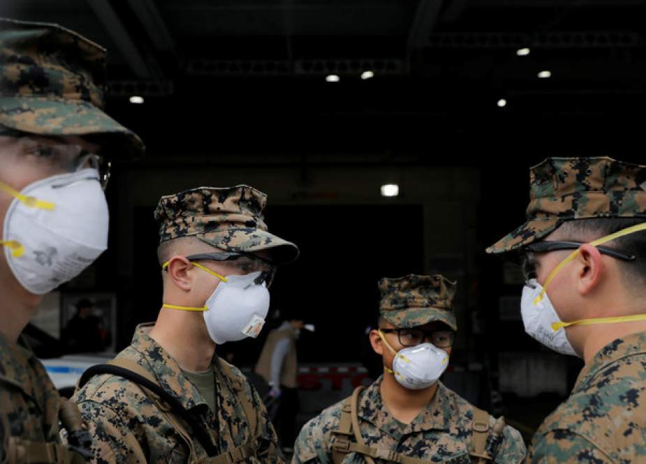 Military personnel wearing protective face masks in New York City.JPG