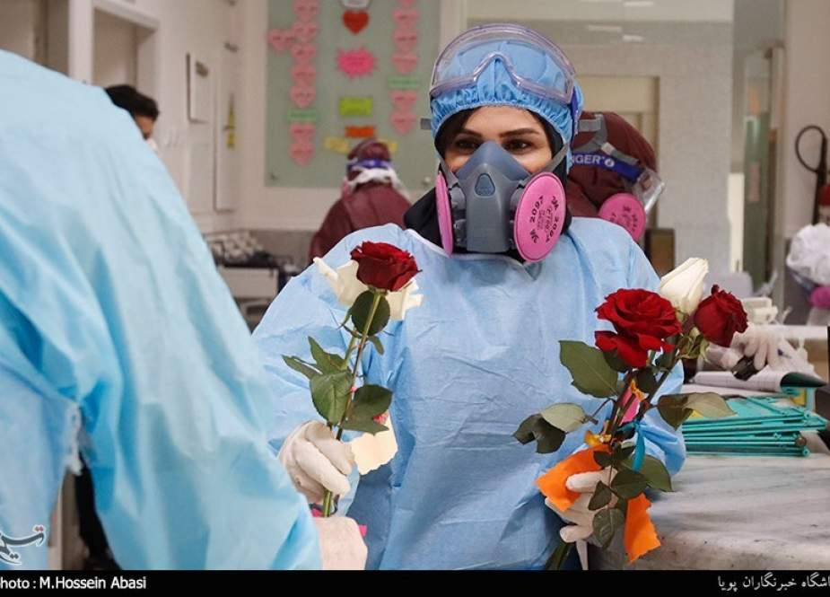 Iranian nurse at a hospital treating coronavirus cases.jpg