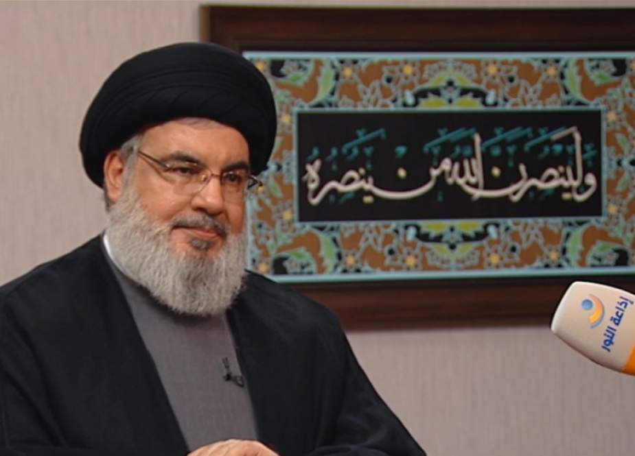 Hezbollah S.G. Sayyed Hasan Nasrallah in an interview with Al-Nour radio station.jpg