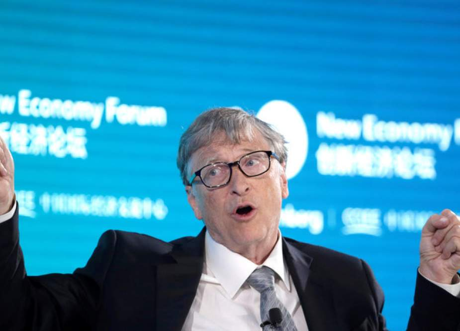 Bill Gates attends a conversation at the 2019 New Economy Forum in Beijing, China.JPG
