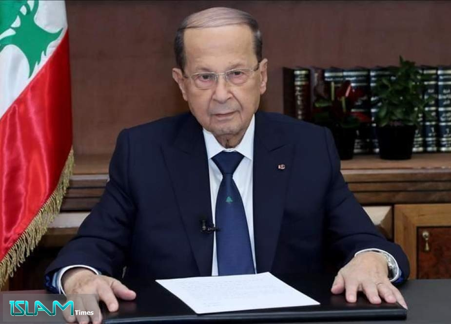 President Aoun Warns against Israel's 'Dangerous' Gas Exploration Bid
