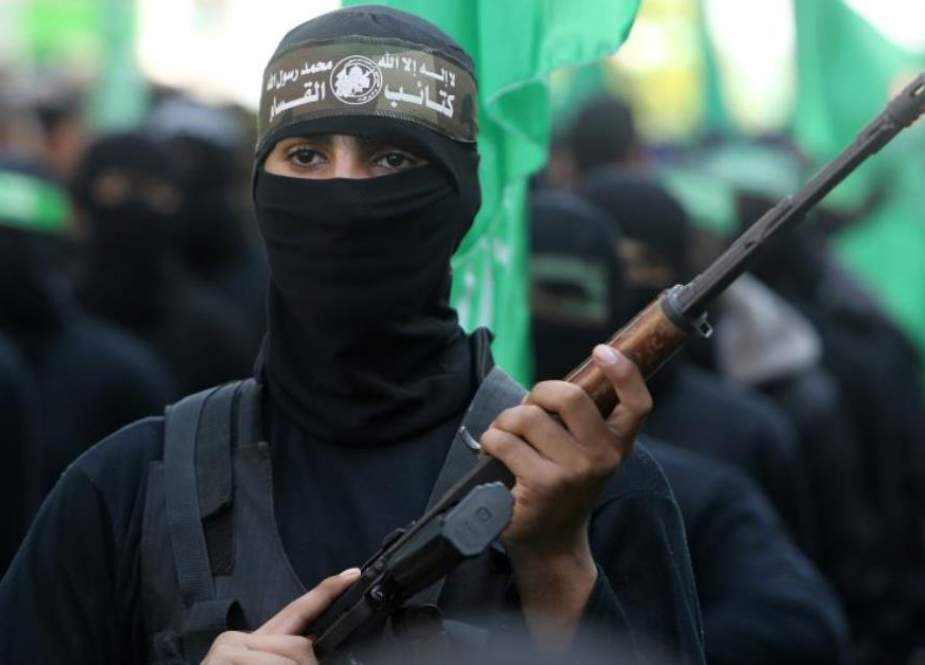 Izz ad-Din al-Qassam Brigades, military wing of Hamas resistance group-.jpg