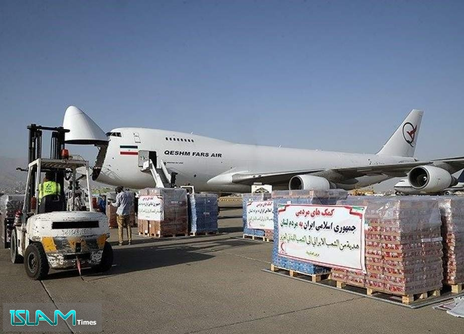Iran Sends 1st Cargo of Aid to Lebanon after Beirut Blast