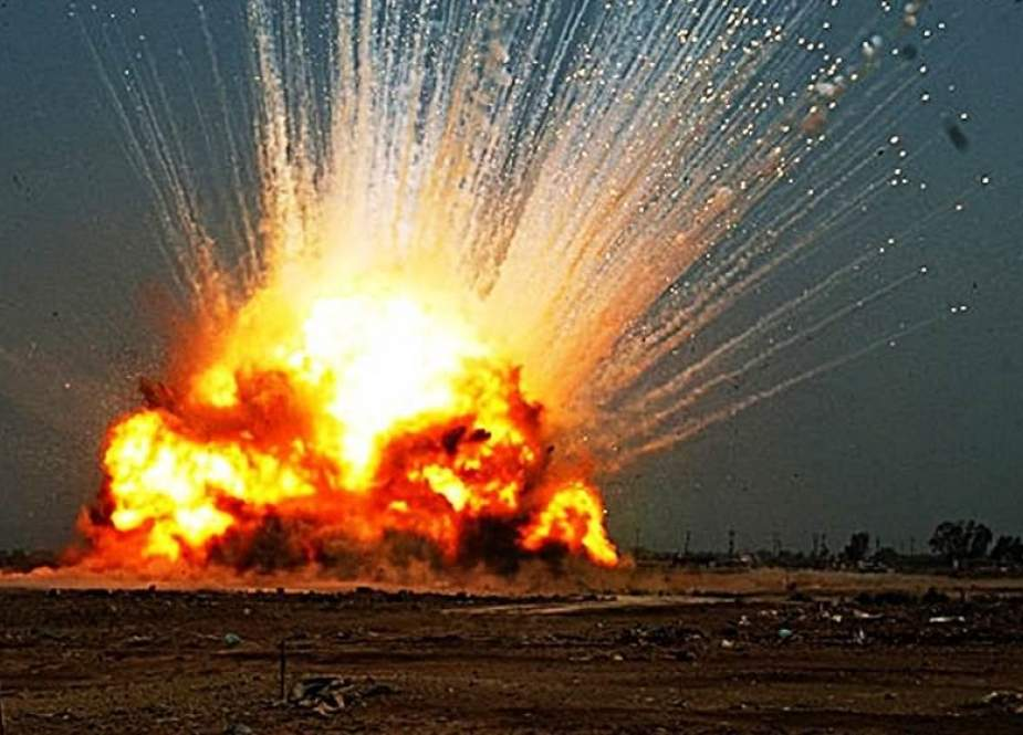 Explosion targets convoy carrying U.S. military equipment.jpg