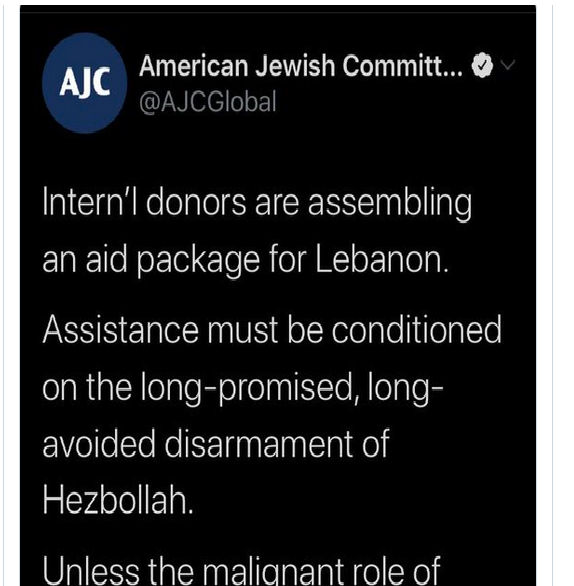 AJC tweet (electronic intifada).
