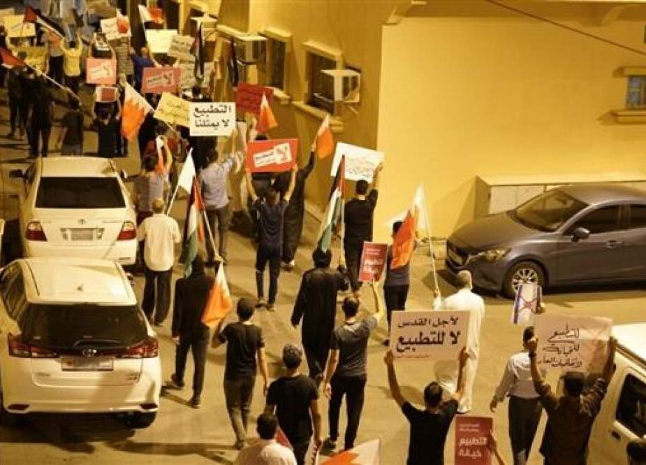 Bahrainis rallying against the kingdom's recent US-brokered normalization deal with Israel.jpg
