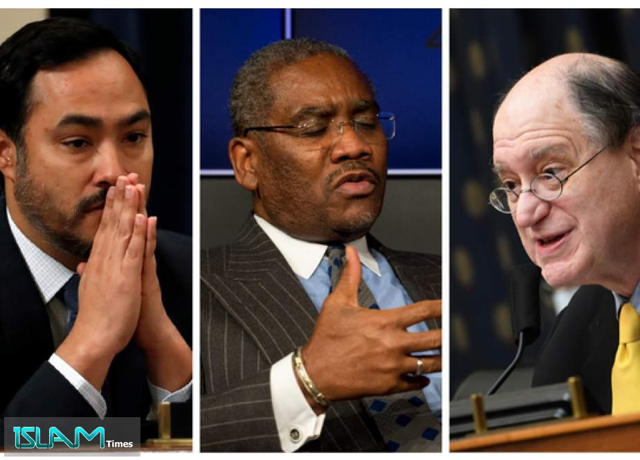 (L-R) Joaquin Castro, Gregory Meeks and Brad Sherman are eyeing the House Foreign Affairs Committee