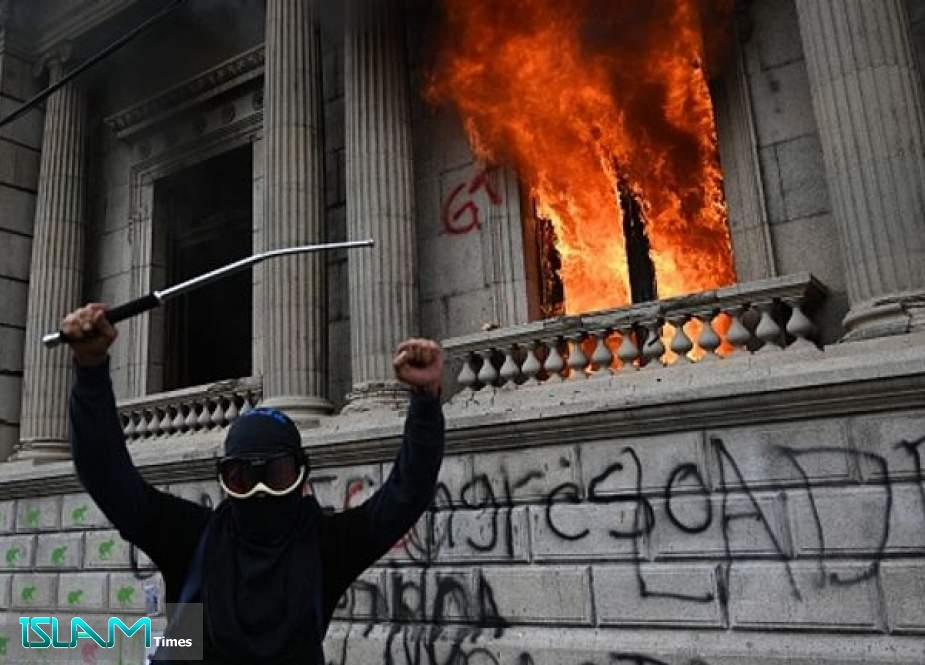 Protesters Set Fire to Guatemala