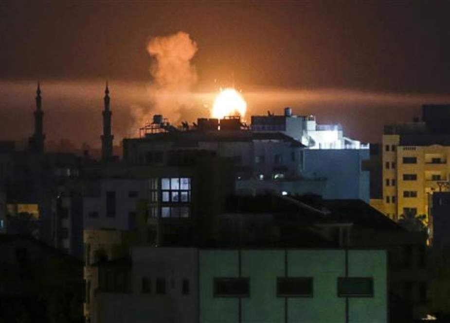 Gaza city after an airstrike by Israeli forces.jpg
