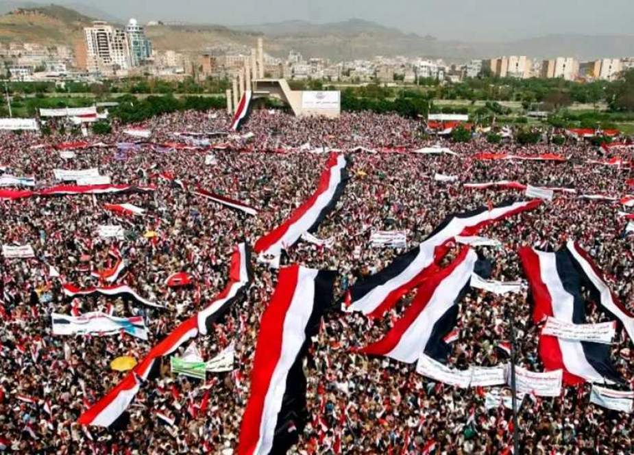 Yemenis Rally in Sanaa Against US Blacklisting of Ansarullah.jpg