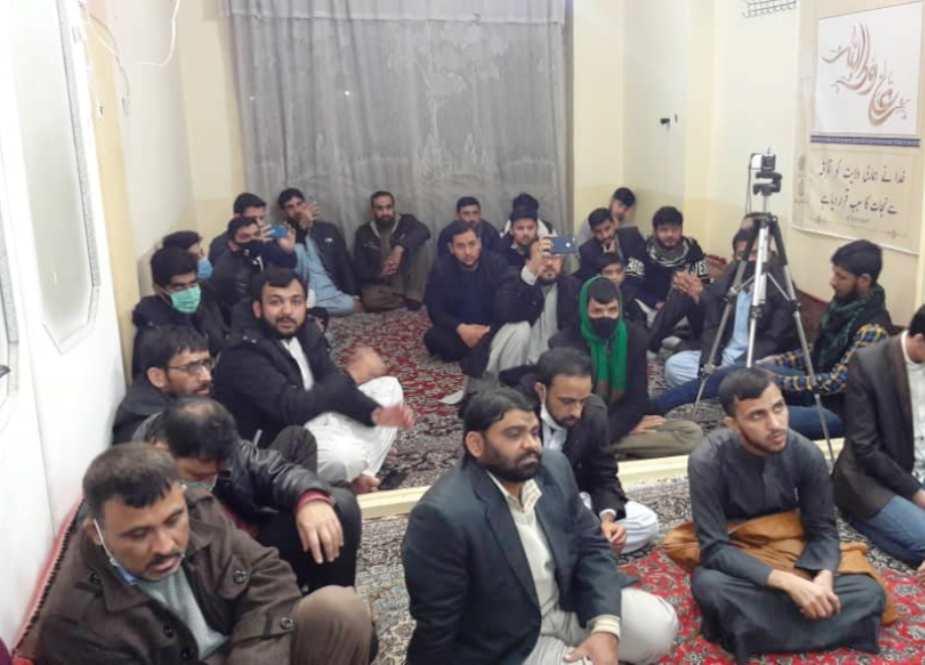 مجلس ودعت مسلم ، مشهد مقدس ، تحت حمایت شهید عارف الحسینی