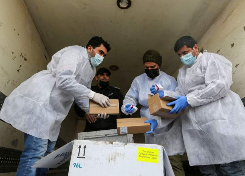 Gaza receives first shipment of Russian COVID vaccine.jpg