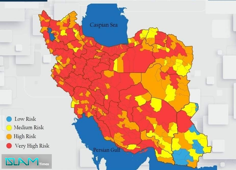Coronavirus Alert in Iran: All Provincial Capitals in Red Category
