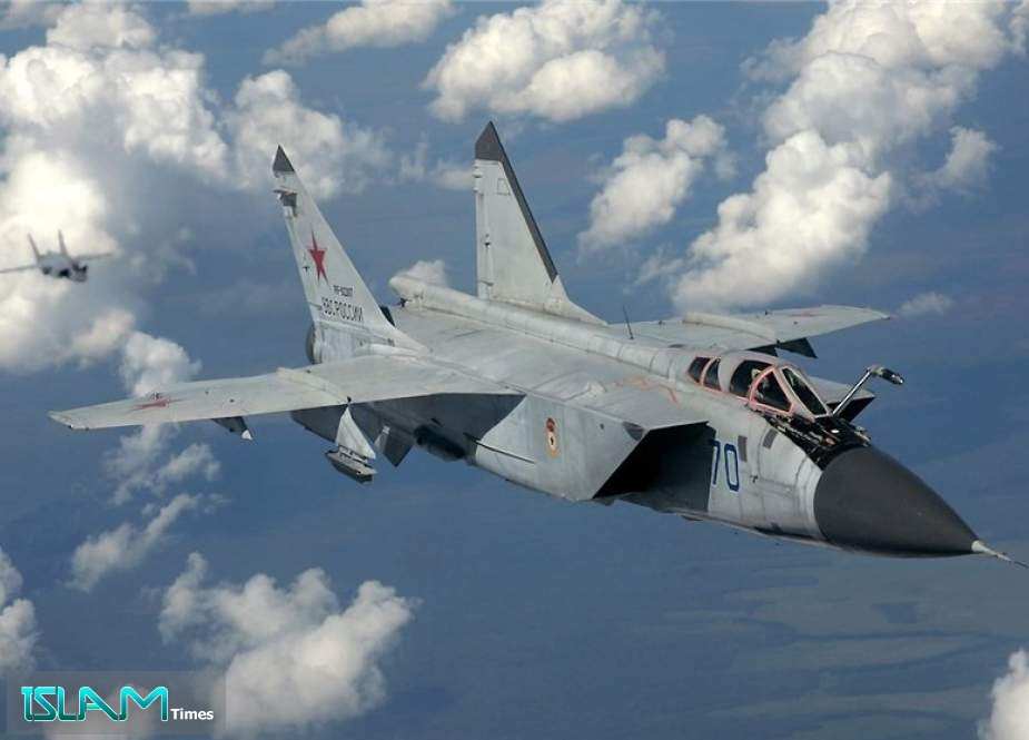 Russian MiG-31 Fighter Jet Intercepts US Aircraft over Pacific