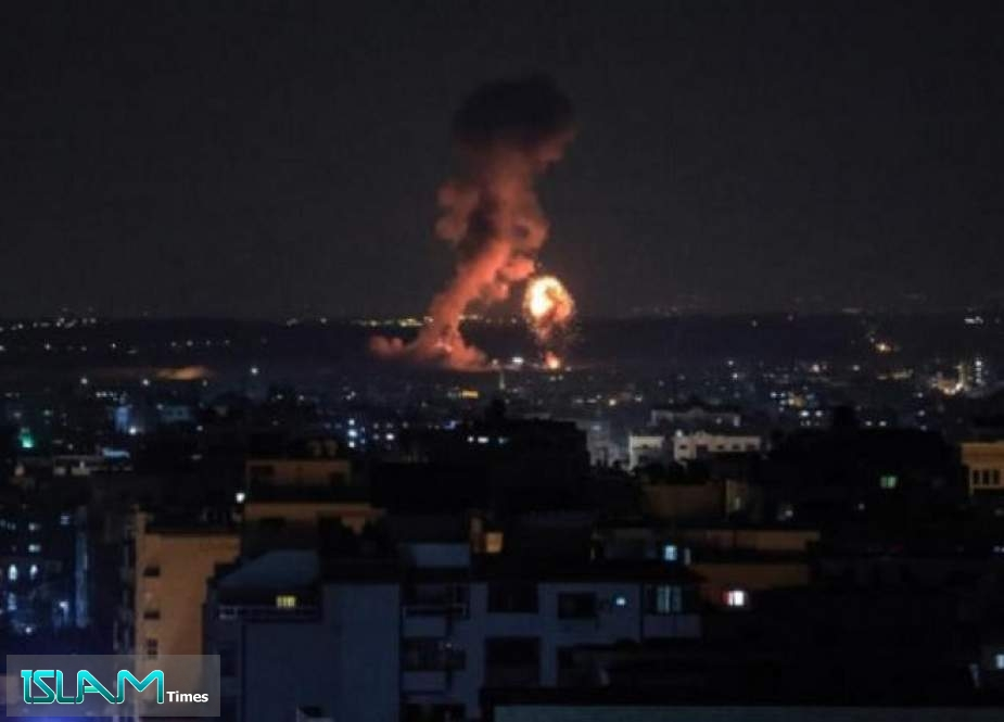 Gaza Strip Comes Under 'Israeli' Bombardment