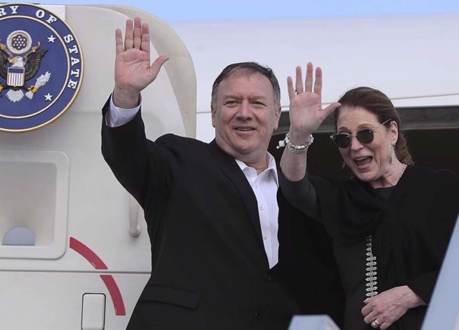 Former US Secretary of State Mike Pompeo and his wife Susan
